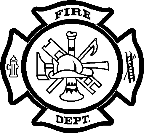 fire department coloring pages - fire department maltese cross sketch coloring page